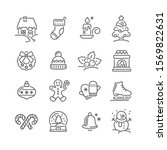 set of christmas icons for... | Shutterstock .eps vector #1569822631
