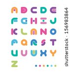 abstract color font with a point | Shutterstock .eps vector #156983864