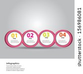 modern clean pink design... | Shutterstock .eps vector #156986081