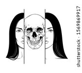 death in the guise of a woman... | Shutterstock .eps vector #1569869917