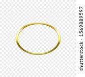 oval golden frame  ring... | Shutterstock .eps vector #1569889597