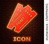 glowing neon ticket icon... | Shutterstock .eps vector #1569996541