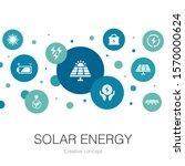 solar energy trendy circle...