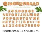 gingerbread alphabet for... | Shutterstock .eps vector #1570001374