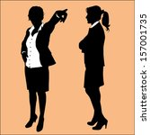 business woman silhouette | Shutterstock .eps vector #157001735