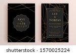 beautiful set of wedding card...   Shutterstock .eps vector #1570025224