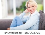 attractive middle aged woman... | Shutterstock . vector #157003727