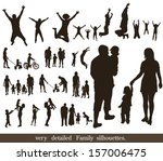 set  of very detailed family... | Shutterstock .eps vector #157006475