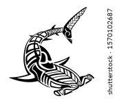 Tribal Hammerhead Shark Tattoo...
