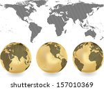 abstract globes with abstract... | Shutterstock .eps vector #157010369