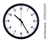 Classic Analog Clock Pointing...