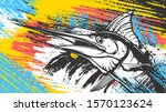 Marlin Fish Logo.sword Fish...