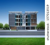 3d render of modern building | Shutterstock . vector #157013519
