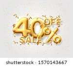 sale 40 off ballon number on... | Shutterstock .eps vector #1570143667