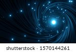 interior of illuminated fiber... | Shutterstock . vector #1570144261