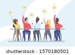 jury voting flat vector... | Shutterstock .eps vector #1570180501