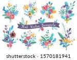 bouquets. garden blooming... | Shutterstock .eps vector #1570181941