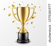trophy cup. champion trophy ... | Shutterstock .eps vector #1570181977