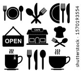 restaurant and cafe icon design ... | Shutterstock .eps vector #1570193554