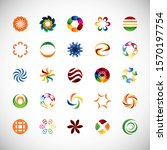 abstract circle icon set....   Shutterstock .eps vector #1570197754