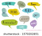 hand drawn set of colorful... | Shutterstock .eps vector #1570202851