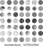 set of vector abstract globes  | Shutterstock .eps vector #157022504