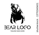 vector logo black grizzly bear...   Shutterstock .eps vector #1570260601