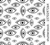 eyes open seamless background....   Shutterstock .eps vector #1570297264