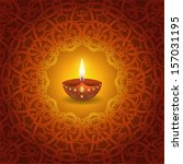 decorative diwali lamp design | Shutterstock .eps vector #157031195