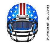 football helmet with stripes...