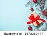 christmas flat lay background... | Shutterstock . vector #1570360447