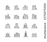 building related icons  thin... | Shutterstock .eps vector #1570375354