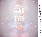 save the date for personal... | Shutterstock .eps vector #157039325