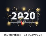 happy new year 2020. 2020 with...   Shutterstock . vector #1570399324