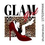 glam girl. vector hand drawn... | Shutterstock .eps vector #1570399444