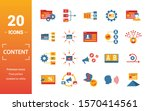content icon set. include... | Shutterstock .eps vector #1570414561