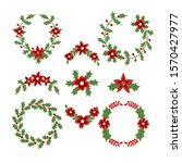 christmas wreath decorated with ... | Shutterstock .eps vector #1570427977