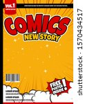 comic book page template design....   Shutterstock .eps vector #1570434517