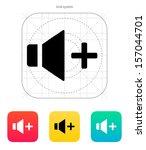 speaker icon. volume plus....