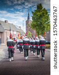 Dutch Militia (Schutterij) on the way to church during the maria procession.
