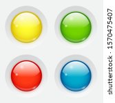 glossy round web buttons on... | Shutterstock .eps vector #1570475407