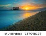 Brighton West Pier At Sunset ...