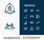 united kingdom icon set and... | Shutterstock .eps vector #1570532947