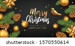 merry christmas and happy new... | Shutterstock .eps vector #1570550614