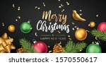 merry christmas and happy new... | Shutterstock .eps vector #1570550617