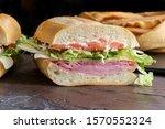 Italian Sub Sandwich With Ham...