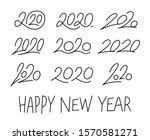 set of 2020 calligraphic... | Shutterstock .eps vector #1570581271