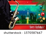 christmas green red... | Shutterstock . vector #1570587667