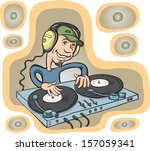 vector illustration of dj... | Shutterstock .eps vector #157059341