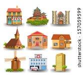 representative buildings | Shutterstock .eps vector #157059599